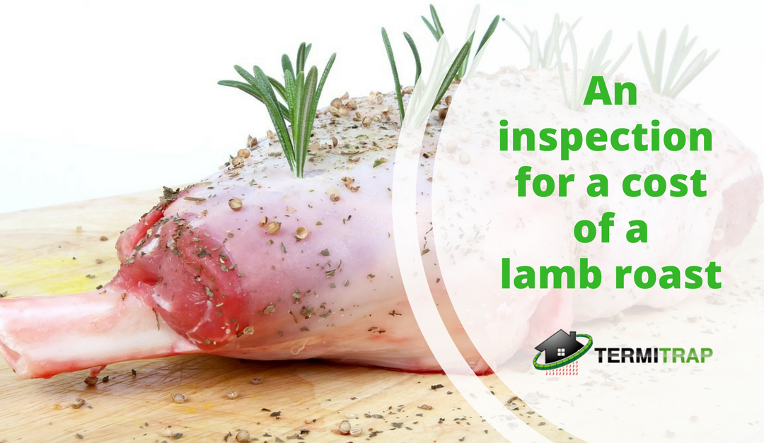 An inspection for the cost of a lamb roast