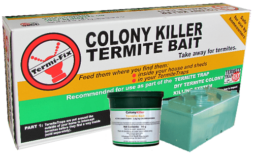 Termite bait made by our company, product name: Colony Killer Termite Bait.