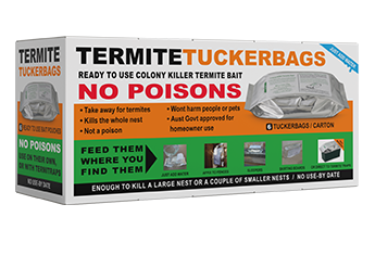 "Termite company's product namely ""Termite Tuckerbags""."