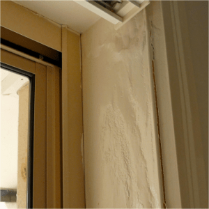 Window that represents termites and white ants home inspection.