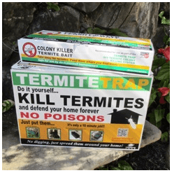 "Boxes of Termite Traps and that represents the ""how does termite bait work blog."