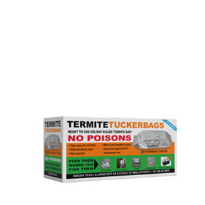 Box with a product name Termite Tuckerbags. It is one of our termite baits.