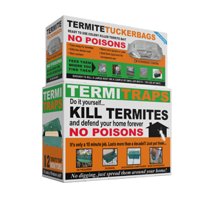 2 Boxes namely TemiTraps and Termite Tuckerbags as the Complete Termite System (Small).