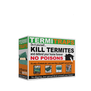 A cardboard box of 12 termite traps and DIY kill termites with no poison.