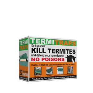 A cardboard box of 22 termite traps and DIY kill termites with no poison.